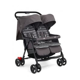 Joie Aire Twin Stroller - Dark Pewter