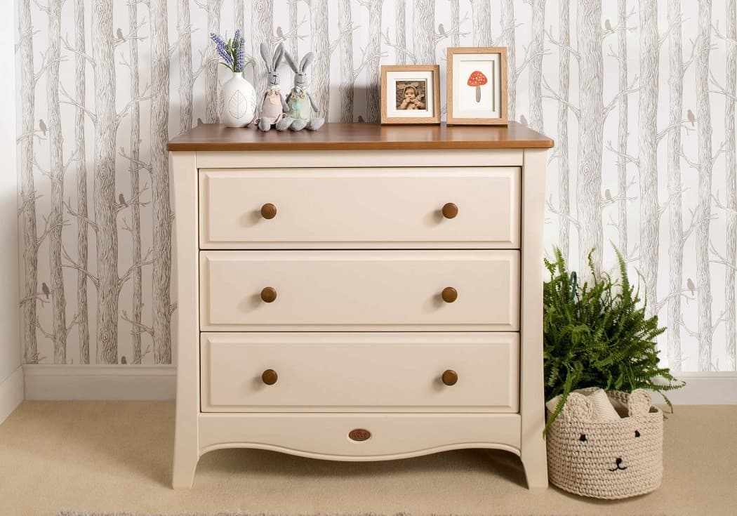 Boori Provence Smart Assembly 3 Drawer Chest Cream And Pecan