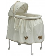 Babyhood Bassinet Safari Animals - Cream & Latte
