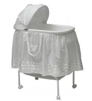 Babyhood Bassinet Satin Ribbon - White