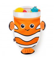 BenBat Scoop & Store Bath Basket Fish - Orange & White