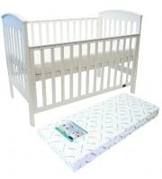 Babyhood Classic Curve Cot + My First Breathe Eze Innerspring Mattress