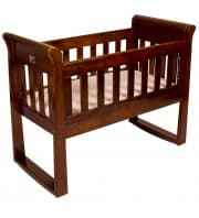 Babyhood Sandton Cradle and Mattress - Espresso
