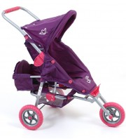 Valco Baby Just Like Mum Mini Marathon Dolls Stroller With Toddler Seat - Butterfly Purple