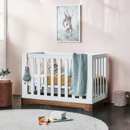 Bebe Care Sorrento Letto Cot and Change Table Package - White Espresso